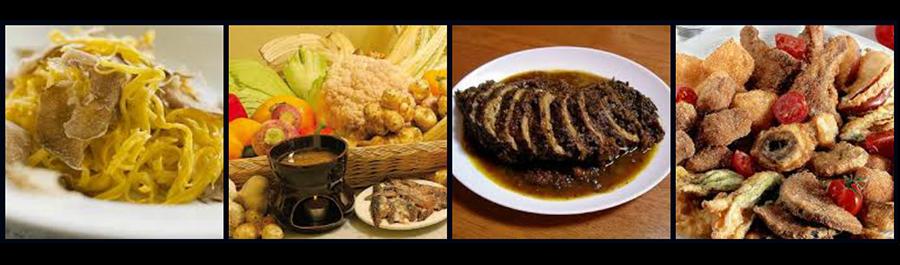 Alcune specialità della cucina piemontese